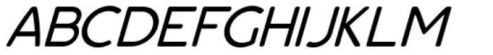 Bourne Oblique Light Font UPPERCASE