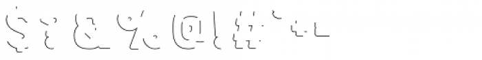 Bourton Drop Line Solo Font OTHER CHARS