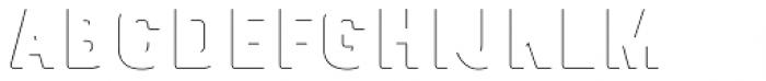 Bourton Drop Line Solo Font UPPERCASE