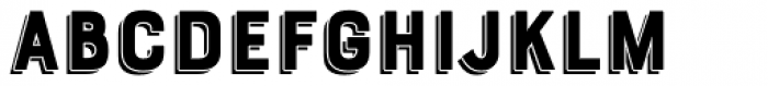 Bourton Drop Shadow Font LOWERCASE