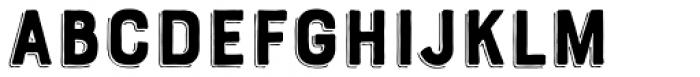 Bourton Hand Drop Line Font LOWERCASE