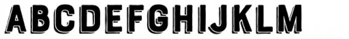 Bourton Hand Drop Shadow Font LOWERCASE