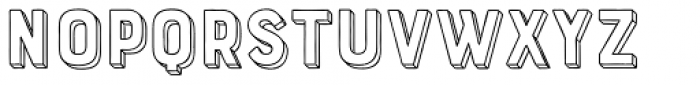 Bourton Hand Extrude Outline Bold Font LOWERCASE