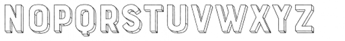 Bourton Hand Extrude Outline Font LOWERCASE