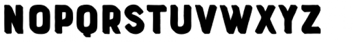 Bourton Hand Extrude Font LOWERCASE