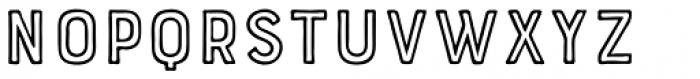 Bourton Hand Outline Bold Font UPPERCASE