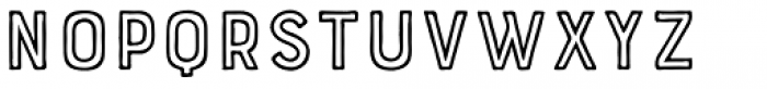 Bourton Hand Outline Bold Font LOWERCASE