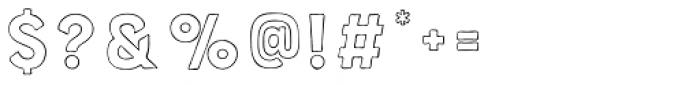 Bourton Hand Outline Light Font OTHER CHARS