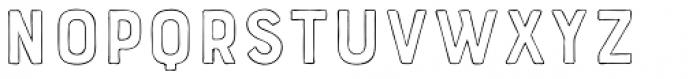 Bourton Hand Outline Light Font UPPERCASE