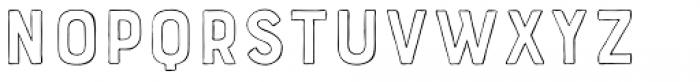 Bourton Hand Outline Light Font LOWERCASE