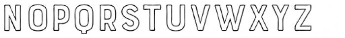 Bourton Hand Outline Medium Font UPPERCASE