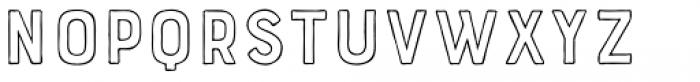 Bourton Hand Outline Medium Font LOWERCASE