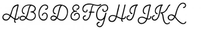 Bourton Hand Script Bold Font UPPERCASE
