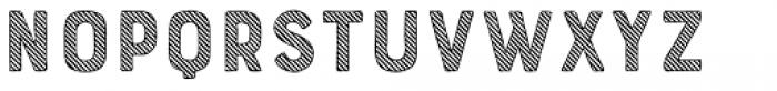 Bourton Hand Stripes A Font LOWERCASE