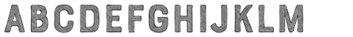 Bourton Hand Stripes B Font UPPERCASE
