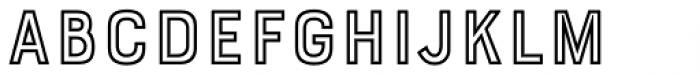 Bourton Outline Bold Font UPPERCASE