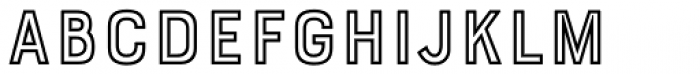Bourton Outline Bold Font LOWERCASE
