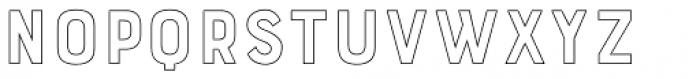 Bourton Outline Light Font LOWERCASE