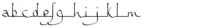 Bousni Ronde Light Font LOWERCASE