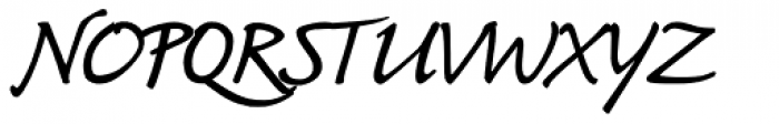 Bouwsma Script Font UPPERCASE