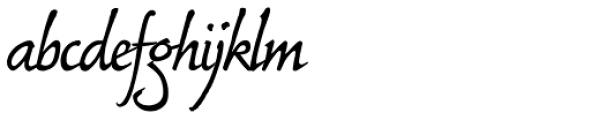 Bouwsma Script Font LOWERCASE