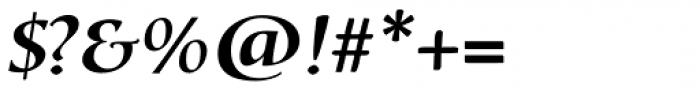 Bouwsma Text SemiBold Italic Font OTHER CHARS