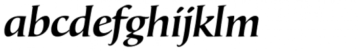 Bouwsma Text SemiBold Italic Font LOWERCASE
