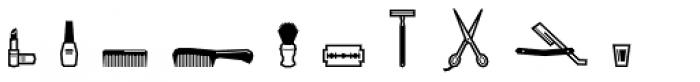 Bowie Dingbats1 Font LOWERCASE