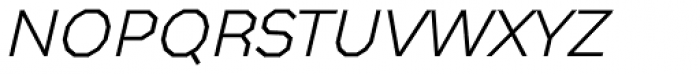 Bowie Thin Italic Font LOWERCASE