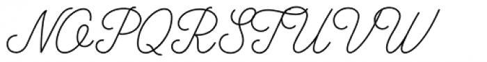 Bowline Script Thin Font UPPERCASE