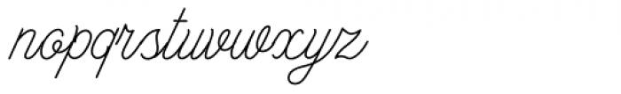 Bowline Script Thin Font LOWERCASE