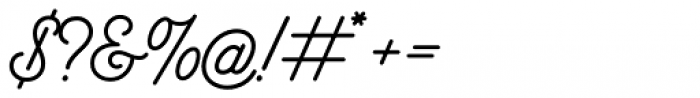 Bowline Script Font OTHER CHARS