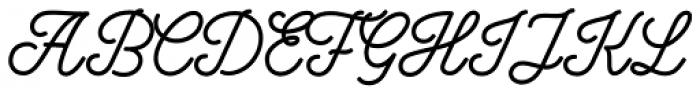 Bowline Script Font UPPERCASE