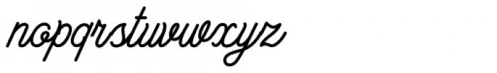 Bowline Script Font LOWERCASE