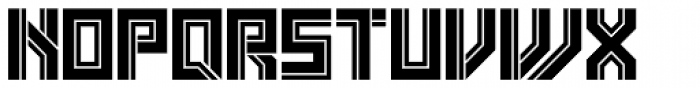Box Out Font UPPERCASE
