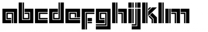 Box Out Font LOWERCASE