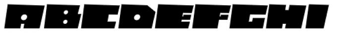 Box10 Oblique Font UPPERCASE