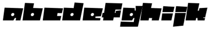 Box10 Oblique Font LOWERCASE