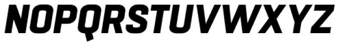 Boxed Heavy Italic Font UPPERCASE