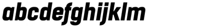 Boxed Heavy Italic Font LOWERCASE