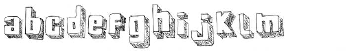 BoxyBlocks Original Font LOWERCASE