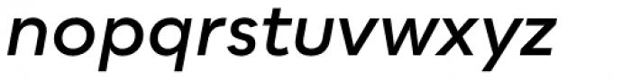 Bozon Demi Bold Italic Font LOWERCASE
