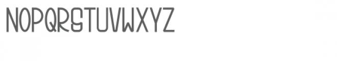 Bonjour Allgera Sans Bold Font LOWERCASE