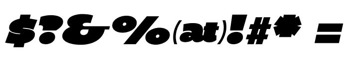 BPDiet-UltraBlackItalic Font OTHER CHARS