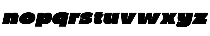 BPDiet-UltraBlackItalic Font LOWERCASE