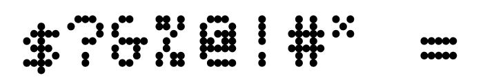 BPdots-Bold Font OTHER CHARS
