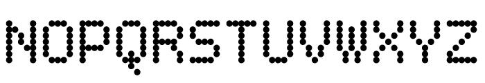 BPdots-Bold Font UPPERCASE