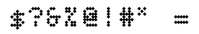 BPdotsDiamond-Bold Font OTHER CHARS