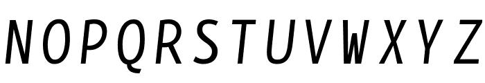 BPmono Italic Font UPPERCASE