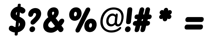 BPreplay Bold Italic Font OTHER CHARS